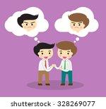business etiquette forbids show ... | Shutterstock .eps vector #328269077