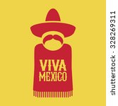 viva mexico  poncho and ... | Shutterstock .eps vector #328269311