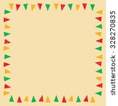 mexican bunting border  vector... | Shutterstock .eps vector #328270835