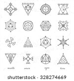 set of geometric shapes. trendy ... | Shutterstock .eps vector #328274669