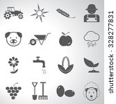 agriculture icons set... | Shutterstock .eps vector #328277831