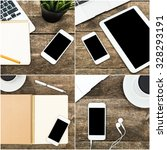 working place collage | Shutterstock . vector #328293191