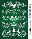 set of christmas banners on... | Shutterstock .eps vector #328301429