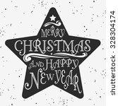 typographical vintage poster... | Shutterstock . vector #328304174