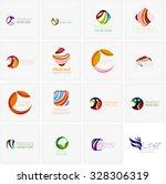 set of abstract wavy elements....   Shutterstock . vector #328306319