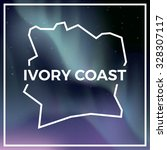 ivory coast map against the...   Shutterstock .eps vector #328307117
