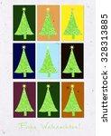 frohe weihnachten   merry... | Shutterstock . vector #328313885