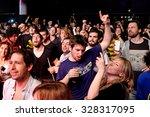 barcelona   mar 18  crowd have... | Shutterstock . vector #328317095