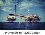 offshore industry oil and gas... | Shutterstock . vector #328322084