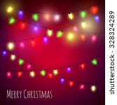 colourful  christmas lights... | Shutterstock .eps vector #328324289