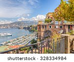 view of the coast of sorrento.... | Shutterstock . vector #328334984
