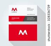 m letter logo modern simple... | Shutterstock .eps vector #328336739