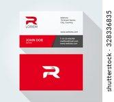 r letter logo modern simple... | Shutterstock .eps vector #328336835