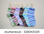 colorful socks. set of socks | Shutterstock . vector #328343105
