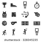 basketball simply symbol for... | Shutterstock .eps vector #328345235