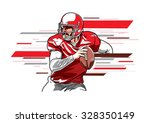 american football player3 | Shutterstock .eps vector #328350149