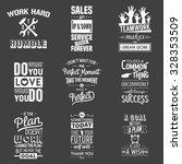 set of vintage business... | Shutterstock .eps vector #328353509