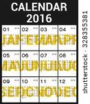 typographic calendar template...   Shutterstock .eps vector #328355381