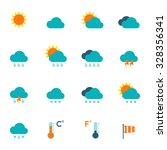 weather icons flat | Shutterstock .eps vector #328356341