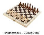 chess board with chess wooden... | Shutterstock . vector #328360481