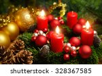 studio shot of a nice advent... | Shutterstock . vector #328367585
