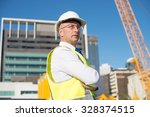 confident construction engineer ... | Shutterstock . vector #328374515