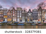 Stock photo colorful traditional canal houses on brouwersgracht in the grachtengordeal the unesco world 328379381