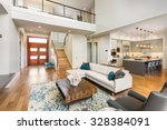 beautiful and large living room ... | Shutterstock . vector #328384091