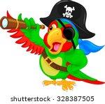 pirate parrot cartoon | Shutterstock .eps vector #328387505