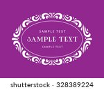 decorative frame   oval | Shutterstock .eps vector #328389224