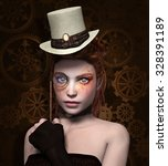 Steam Punk Girl With Monocle