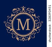elegant monogram design... | Shutterstock .eps vector #328393451