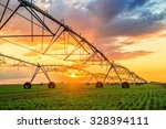 automated farming irrigation... | Shutterstock . vector #328394111
