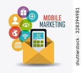 shopping and marketing design ... | Shutterstock .eps vector #328394981
