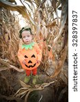 child celebrating halloween | Shutterstock . vector #328397837