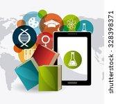 student graduation design over... | Shutterstock .eps vector #328398371