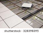 raised access computer floor | Shutterstock . vector #328398395