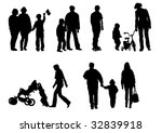 drawing of children from their... | Shutterstock . vector #32839918