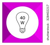 line icon of lightbulb with 40w ...   Shutterstock .eps vector #328402217