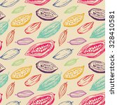 color chocolate cacao pattern ... | Shutterstock .eps vector #328410581