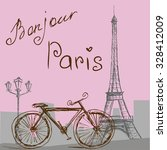 the poster with the bike  in... | Shutterstock . vector #328412009