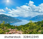 Alpine Lake Como Summer  View...