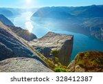 Preikestolen Massive Cliff ...