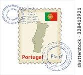 vector postmark with map of...   Shutterstock .eps vector #328412921