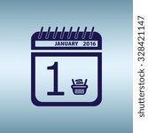 shopping calendar  icon. flat...