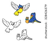 coloring book or page. birds... | Shutterstock .eps vector #328426379