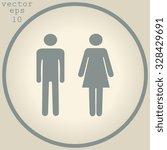 sign with toilet  men  women  | Shutterstock .eps vector #328429691