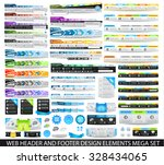 mega collection of web headers  ... | Shutterstock .eps vector #328434065