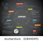 vector company infographic... | Shutterstock .eps vector #328440491