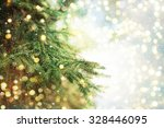 closeup of christmas tree... | Shutterstock . vector #328446095
